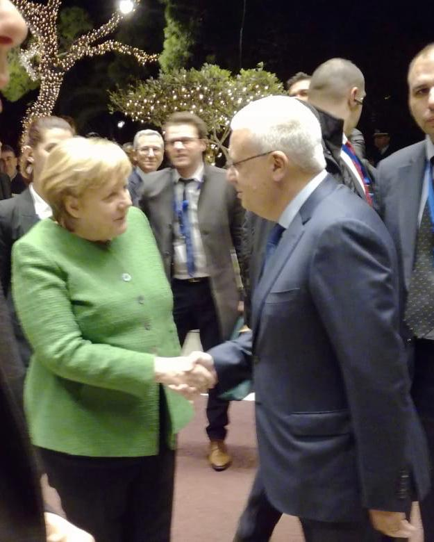 Mr. S. Divanis with Chancellor Merkel